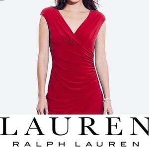 Lauren Ralph Lauren Red Dress Bodycon XS